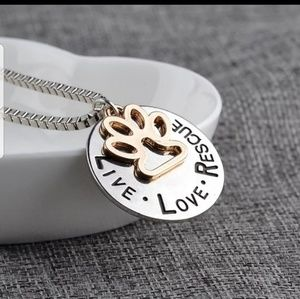 Jewelry - NEW ♥️ Live Love Rescue Necklace♥️